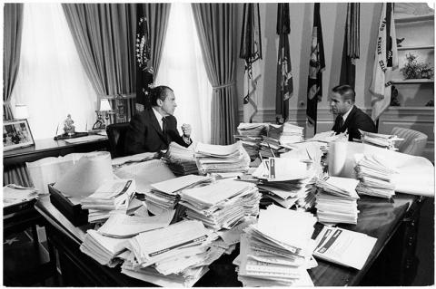 Nixon, Haldeman, and Silent Majority telegrams
