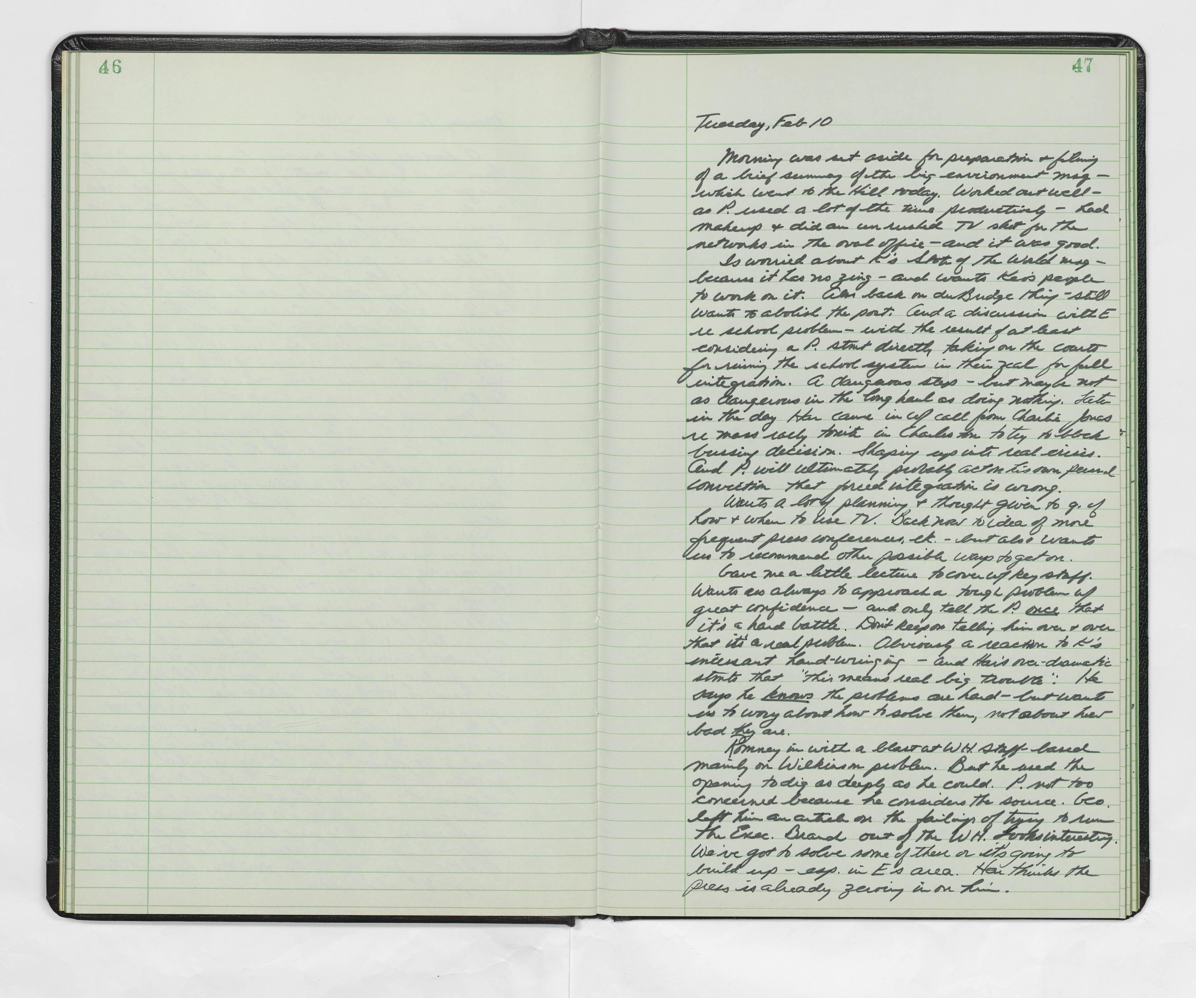 H R Haldeman Diaries 1970 Richard Nixon Museum And Library